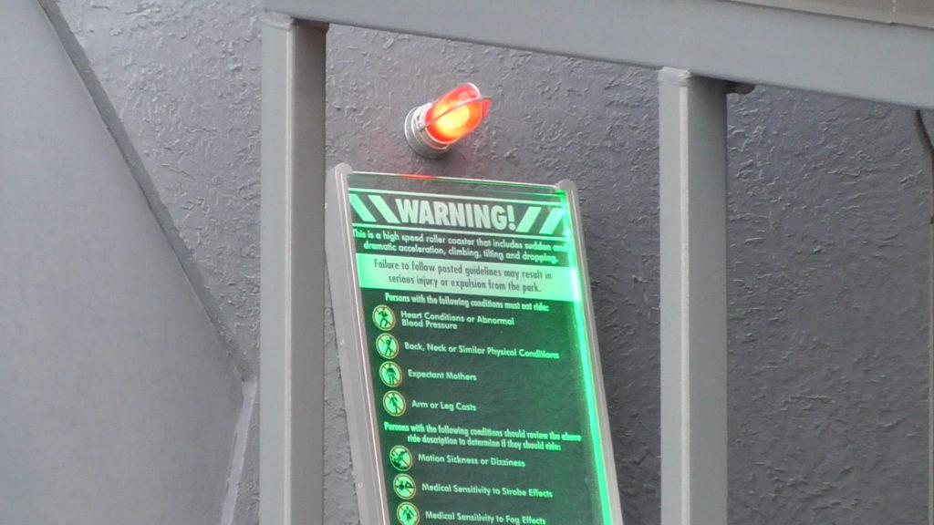 Ride Warnings sign