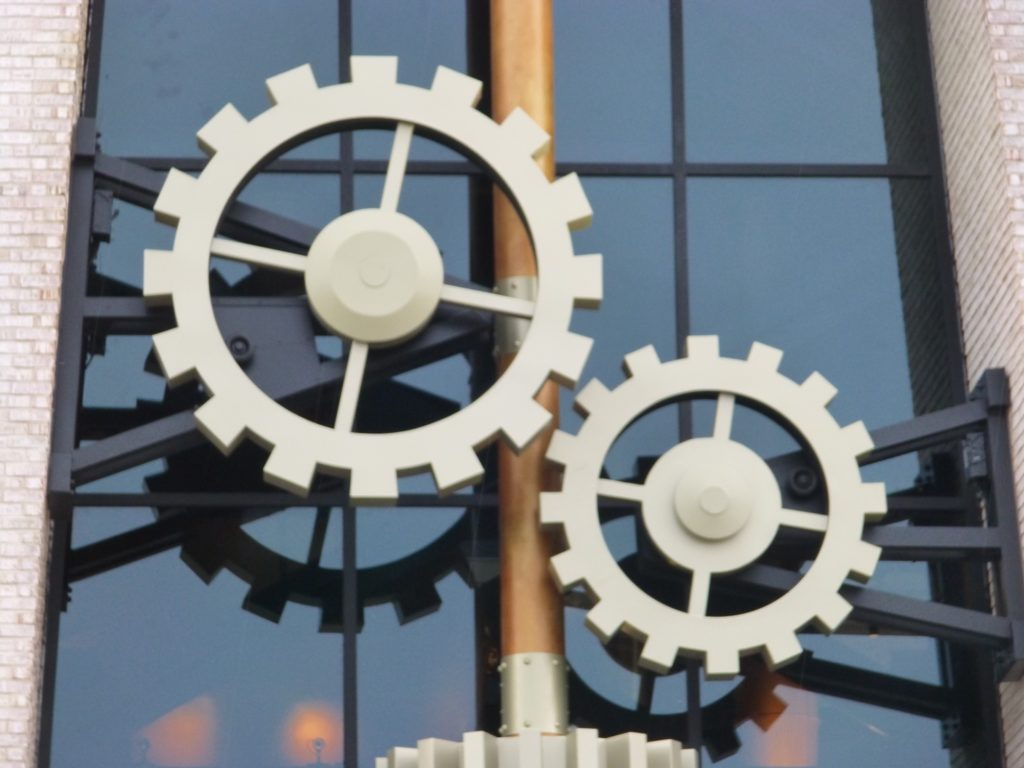 One of these gears was spinning while I was there