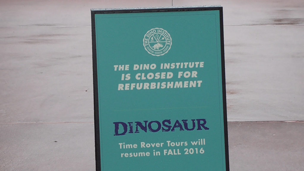 DINOSAUR should hopefully be open again by late October