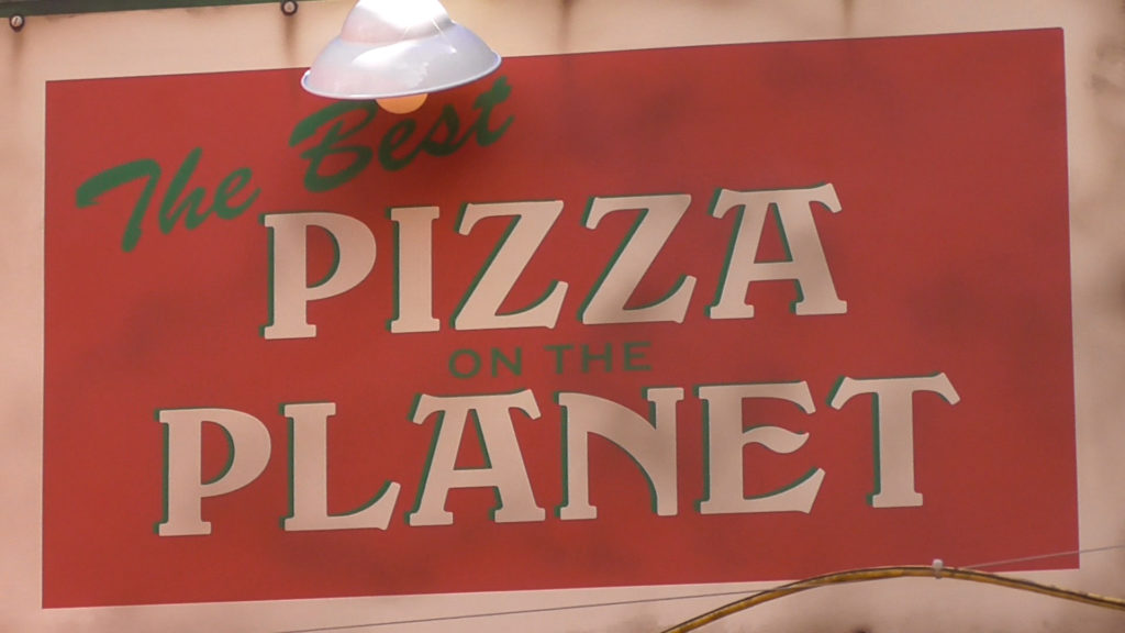 Love this homage to the former Pizza Planet on the sign