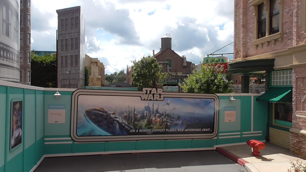 The view of future Star Wars land