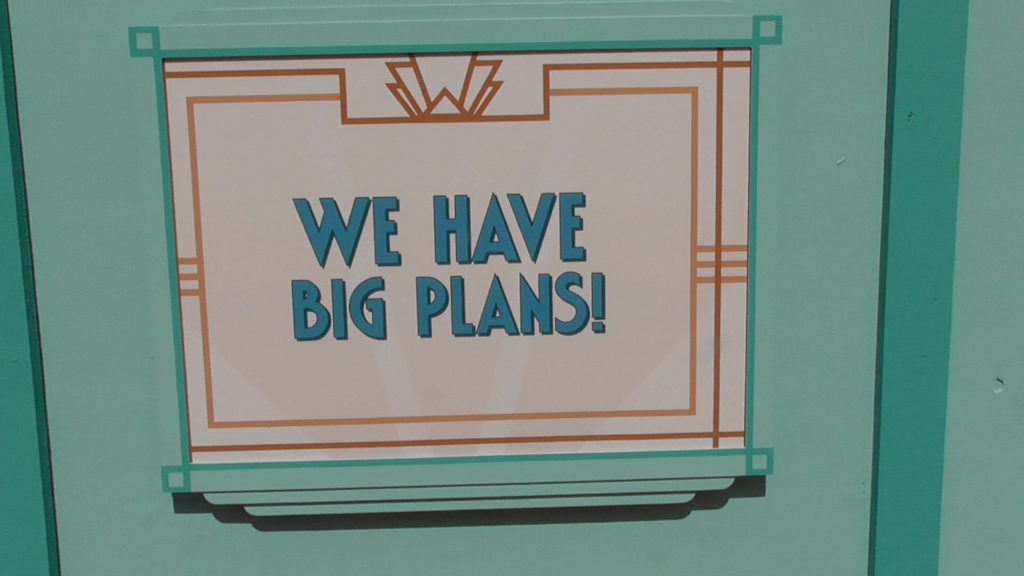 Big indeed. And with big plans, comes long construction periods