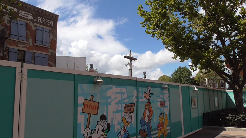 View from behind Muppet area