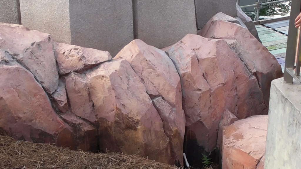 Some rocks that have yet to be painted or primed yet
