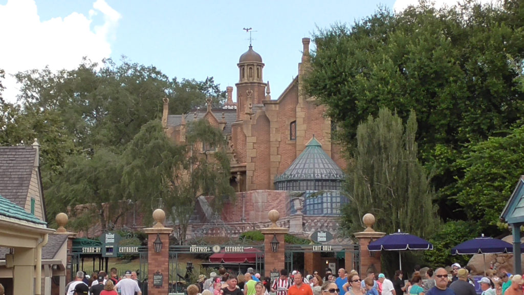 The Haunted Mansion has some exterior work going on