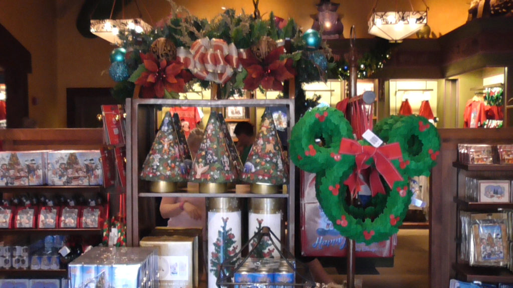 Christmas items in all the gift shops