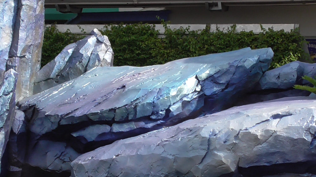 The rocks have different hues painted in different spots, creating a unique look