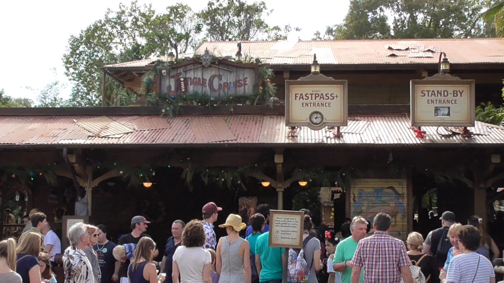 The Jungle Cruise is now the JINGLE Cruise for the holidays