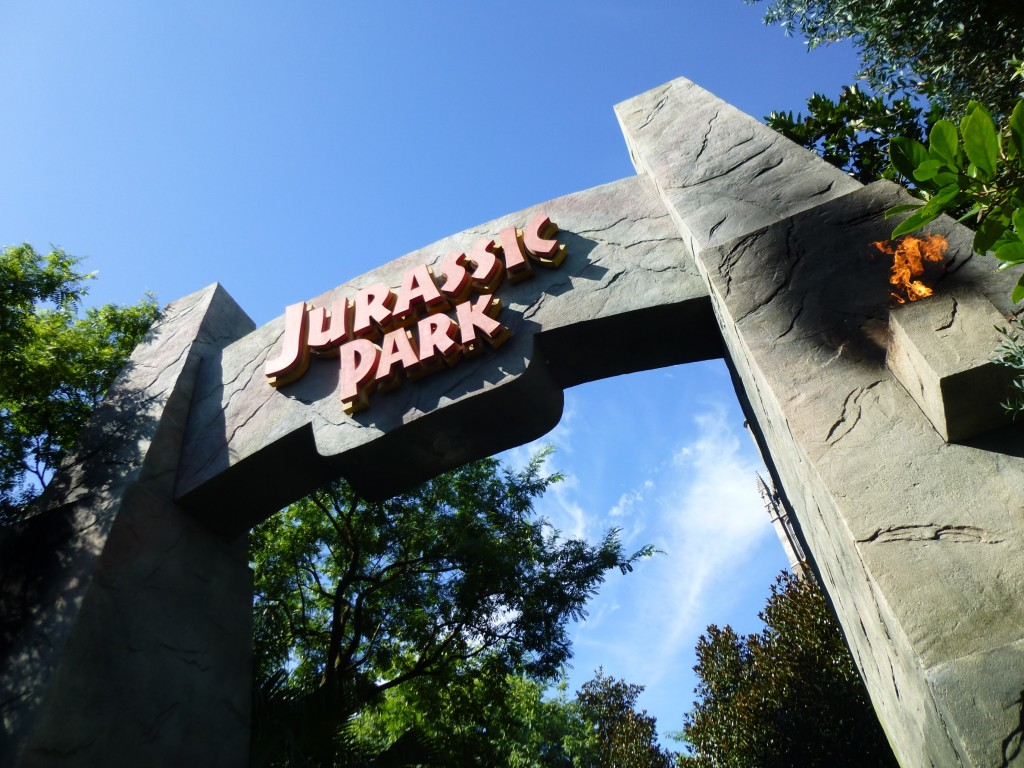 The other Jurassic Park arch, which is still up, over by Harry Potter