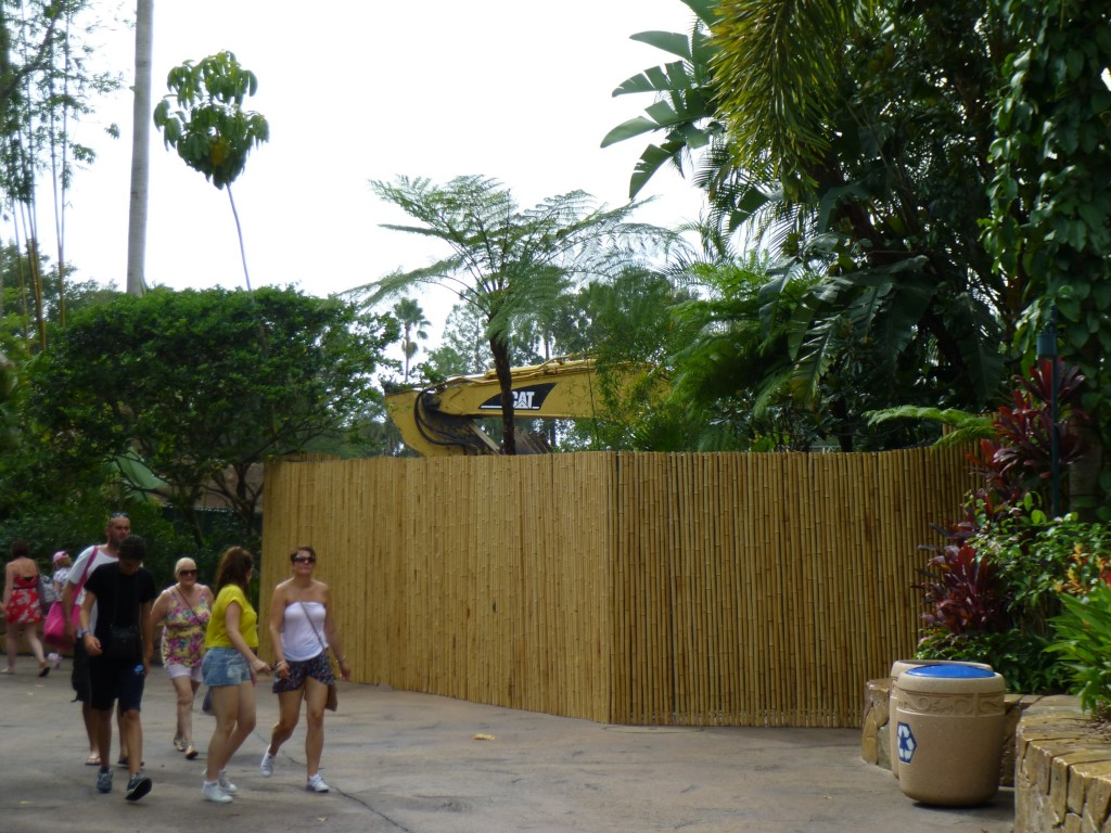 The decorative Bamboo walls blocking construction