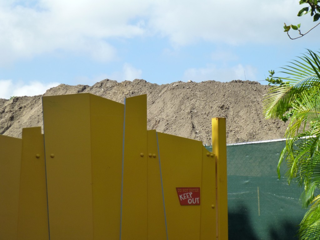 The piles of dirt near Toon Lagoon are getting bigger and bigger