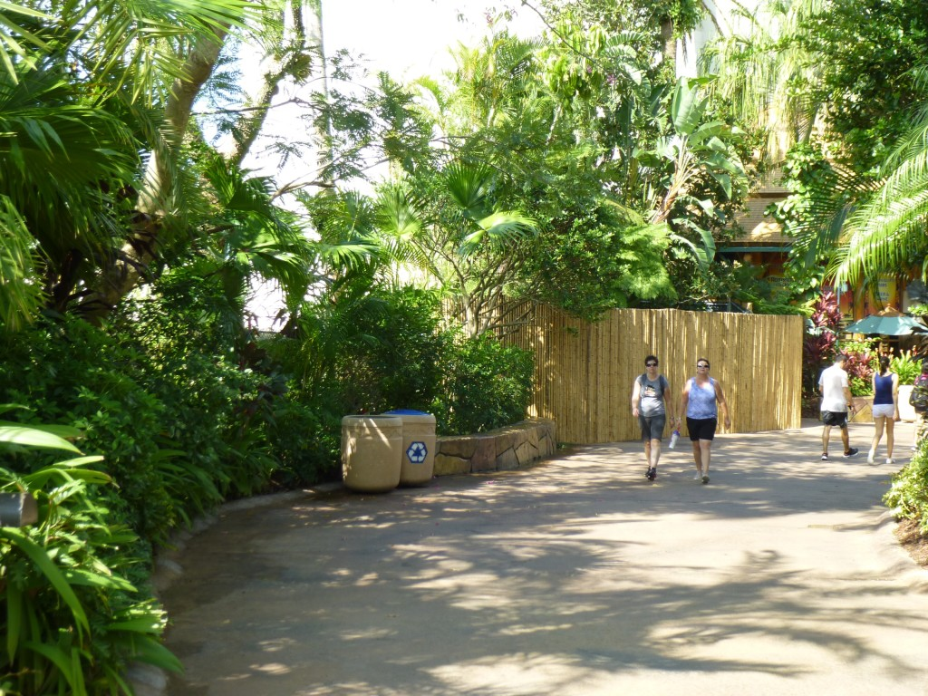 Entering the area, near Jurassic Park