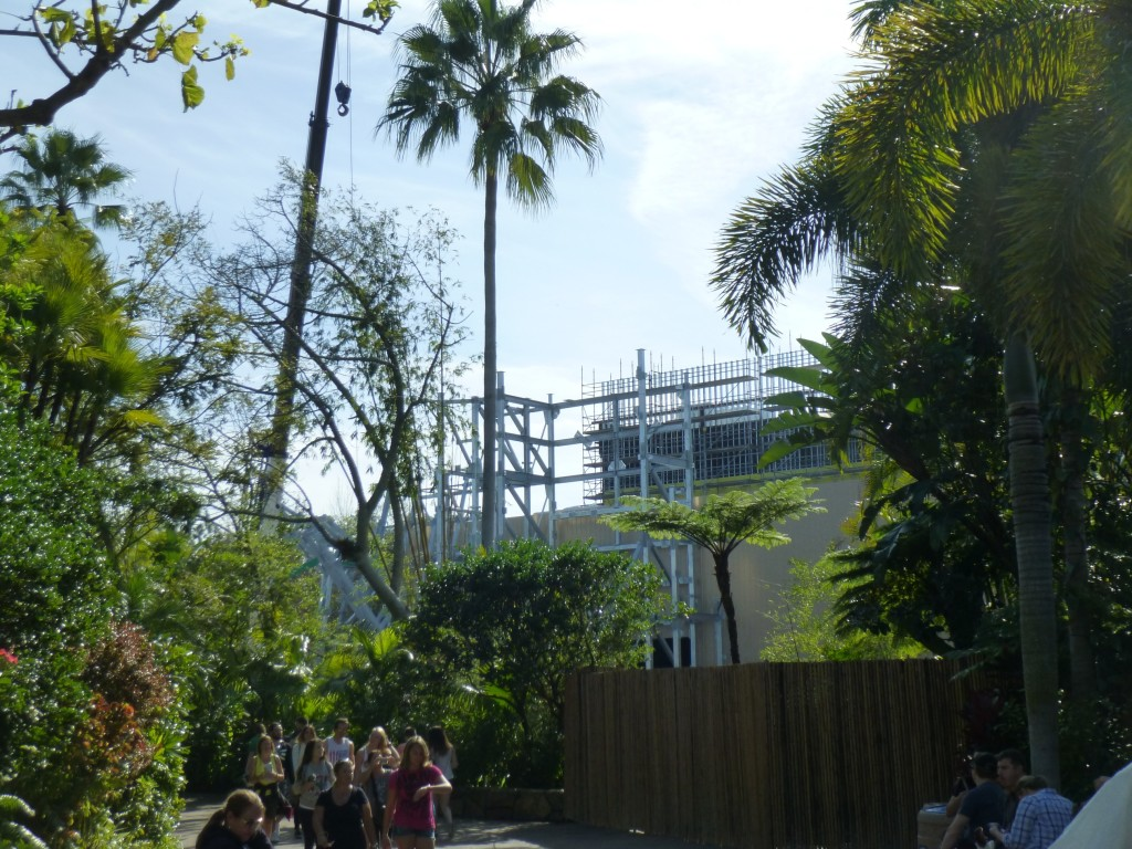 View of the site from Jurassic Park