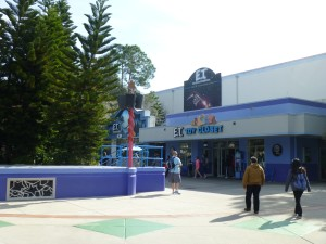 A fairly obscured entrance to E.T. Adventure as it is now