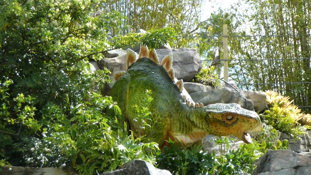 Baby Stegosaur looks great, but too shy to open her eyes for us.