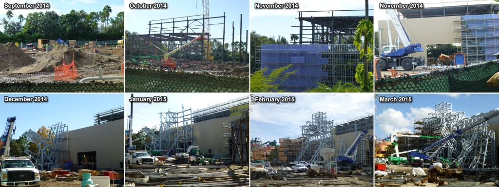 Construction progress since ground breaking