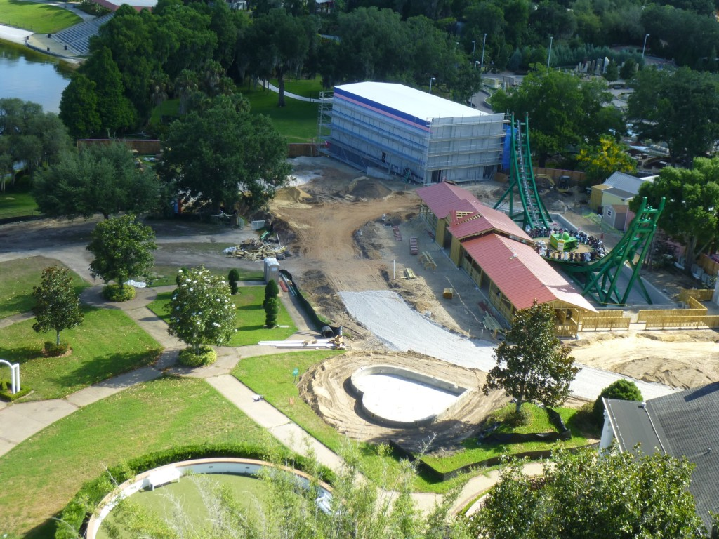 Aerial view of the new area taken from the Island in the Sky ride. It looks like they're connecting more of the original Cypress Gardens area into the new land.