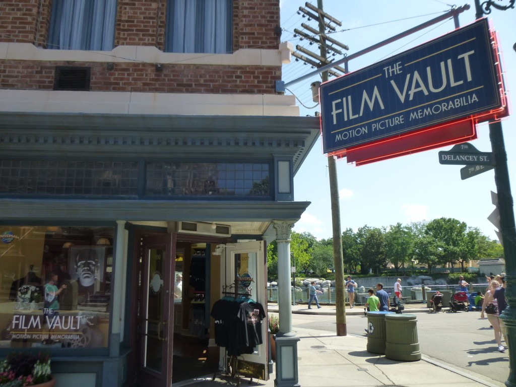 Entrance to the Film Vault store. A great place to get classic movie memorabilia.