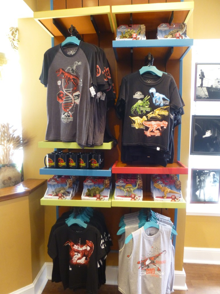 Childrens' JW shirts, toys, and classic Jurassic Park mugs