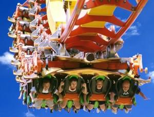 A flying coaster designed by Bolliger & Mabillard