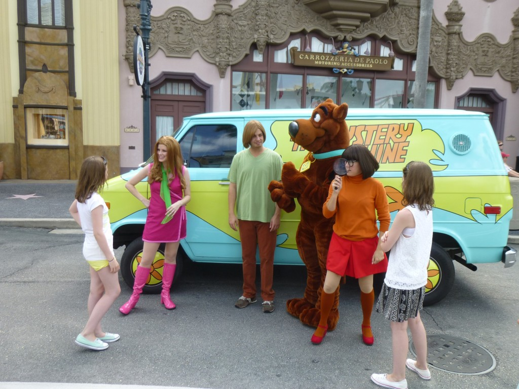 On the way out The Mystery Machine was on the case!