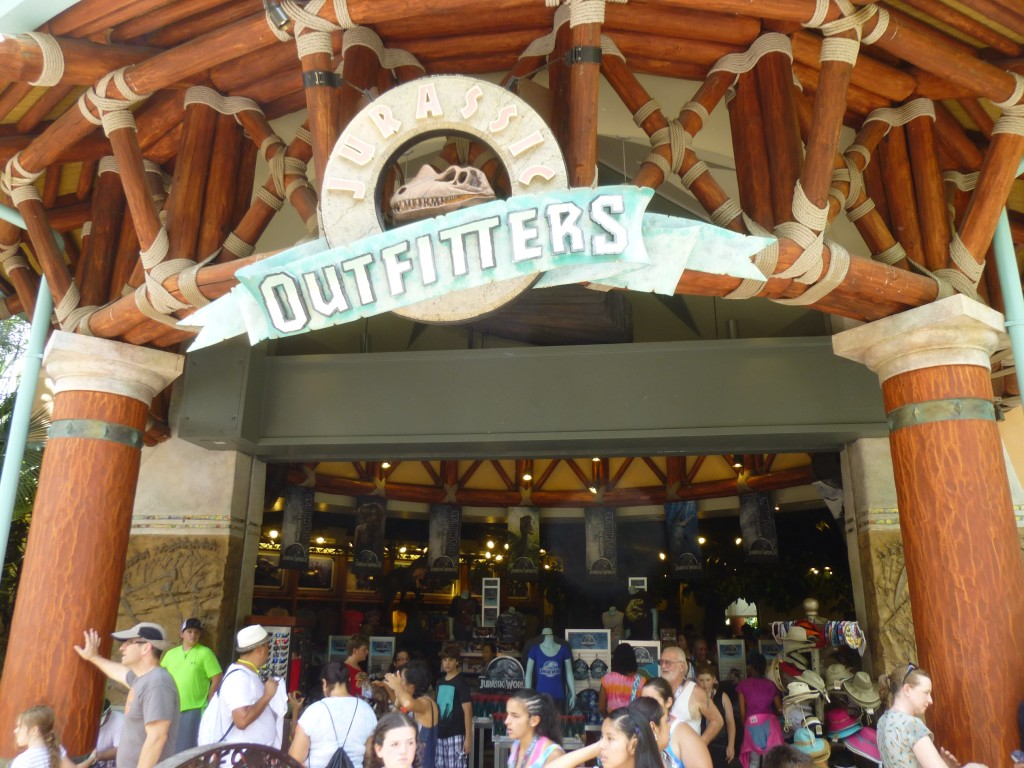 Jurassic Outfitters is located at the exit for the River Adventure ride, and is the biggest gift shop in Jurassic Park