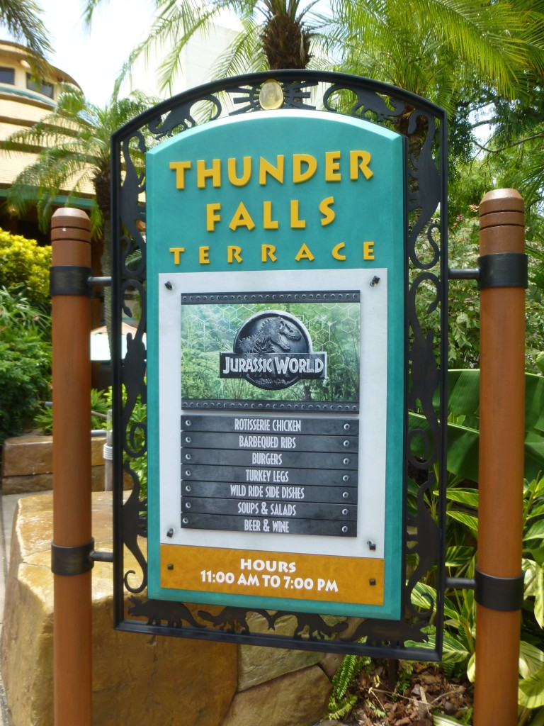 Maybe it's because of the summer crowds, but it's nice to see Thunder Falls open for lunch again