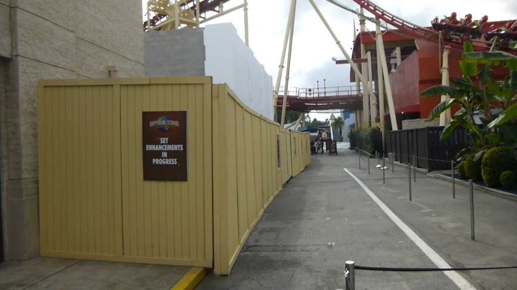 Something being constructed near Despicable Me, behind the main Studio Store