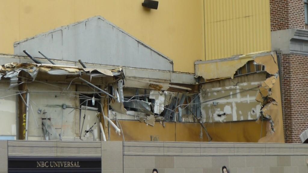 Exterior demolition continues