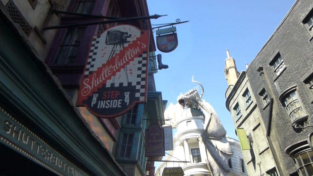 Shutterbutton's new location in Diagon Alley