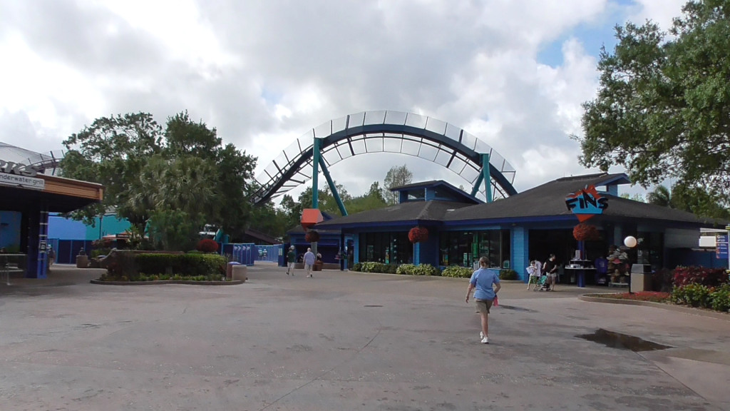 New Mako Coaster branching over the area