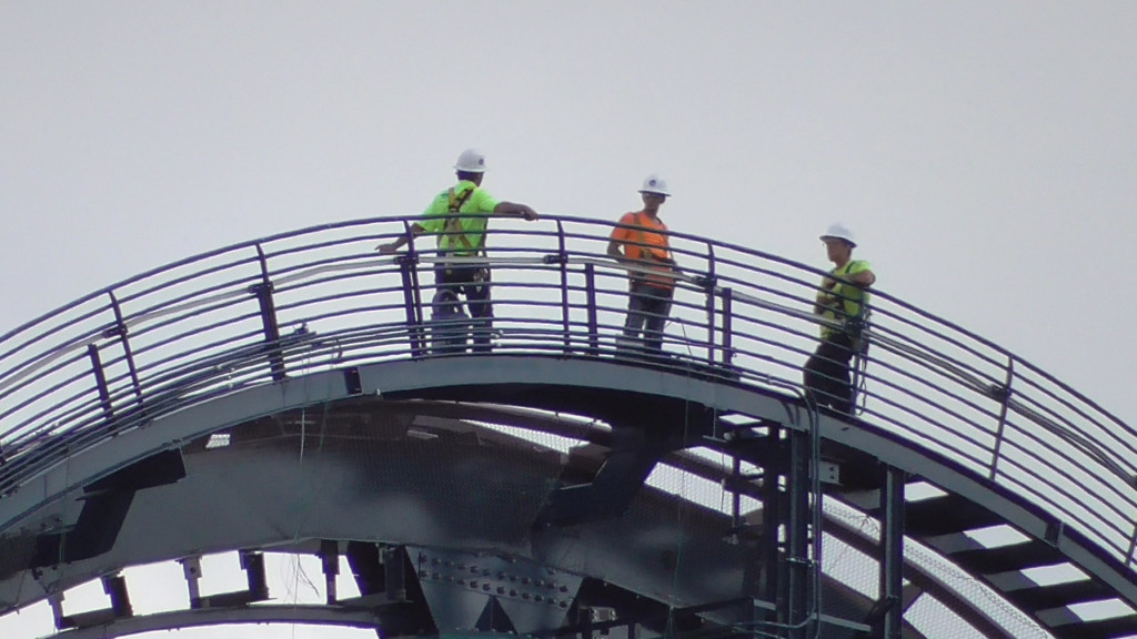 Workers up 200 feet in the air