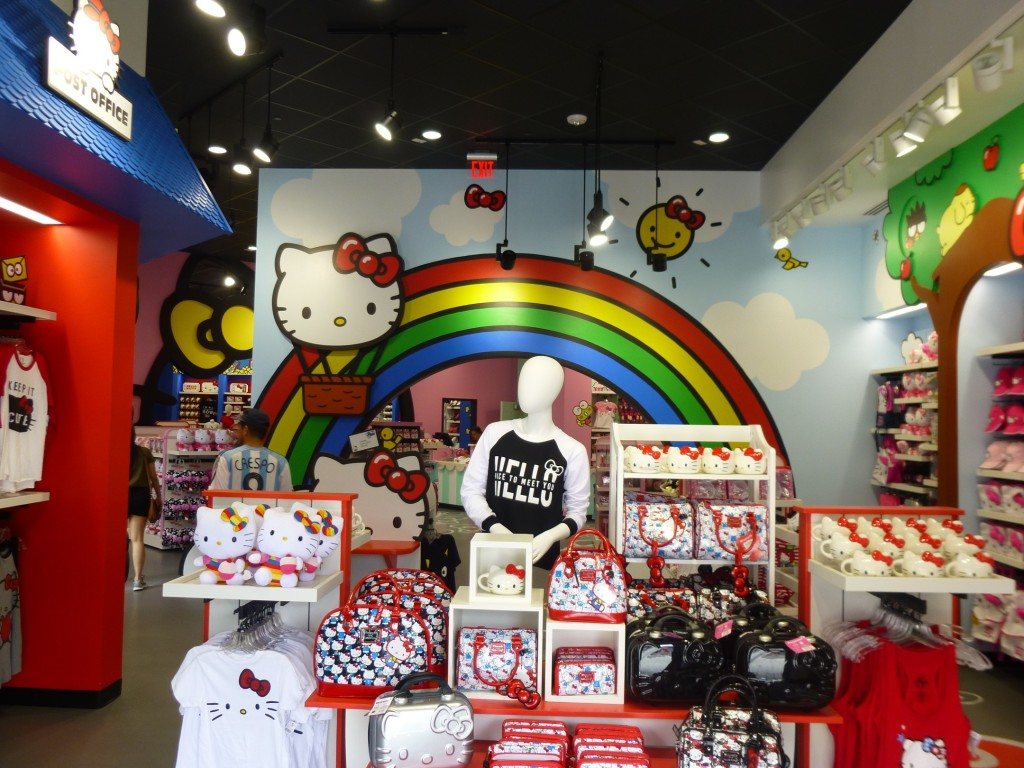 Inside the store: very colorful and fun world of Hello Kitty