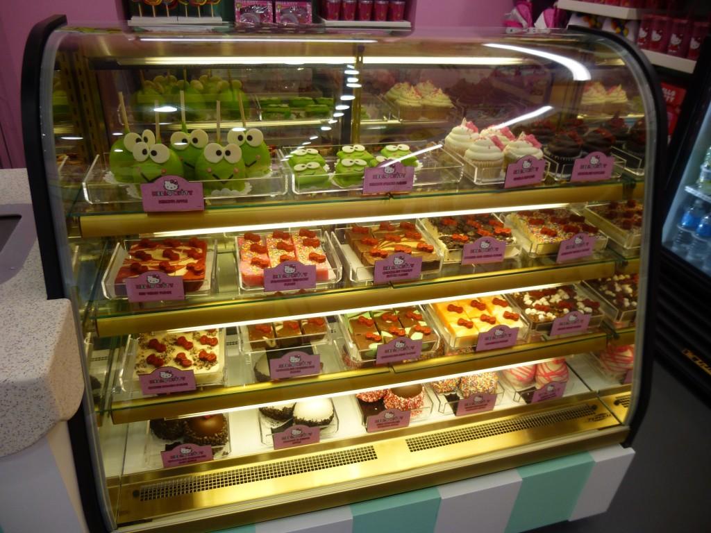 Yummy looking fresh desserts case