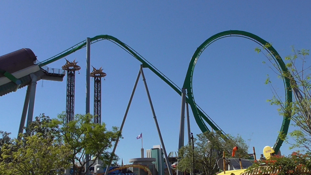 Loop and launch track as seen from Port of Entry