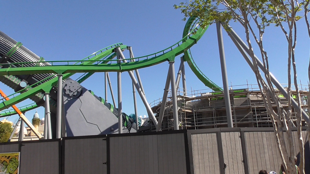Queue and launch tunnel being rethemed