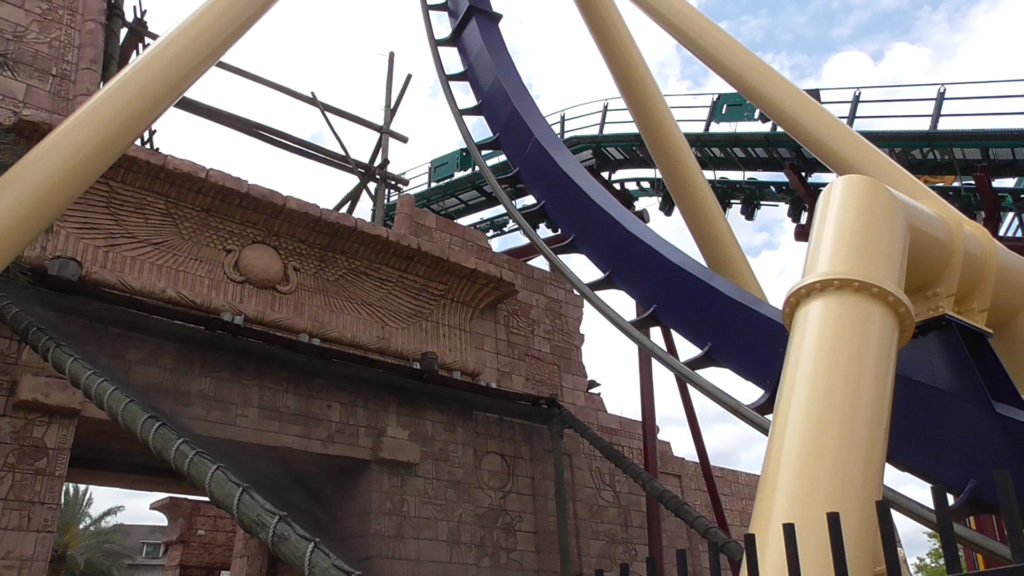 New Cobra's Curse track in background, existing Montu track in foreground