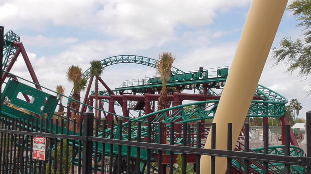Closer view of Cobra's Curse track from Montu area