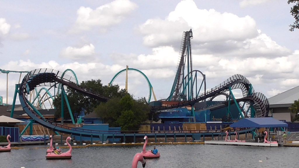 View of the new coaster from across the water