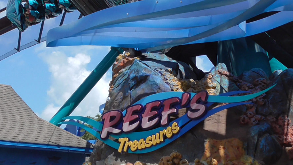 Reef's Treasures is the name of the exit gift shop