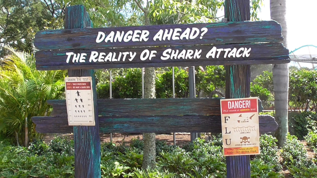 Teaches us in Florida how rare shark attacks is gonna be a hard sell