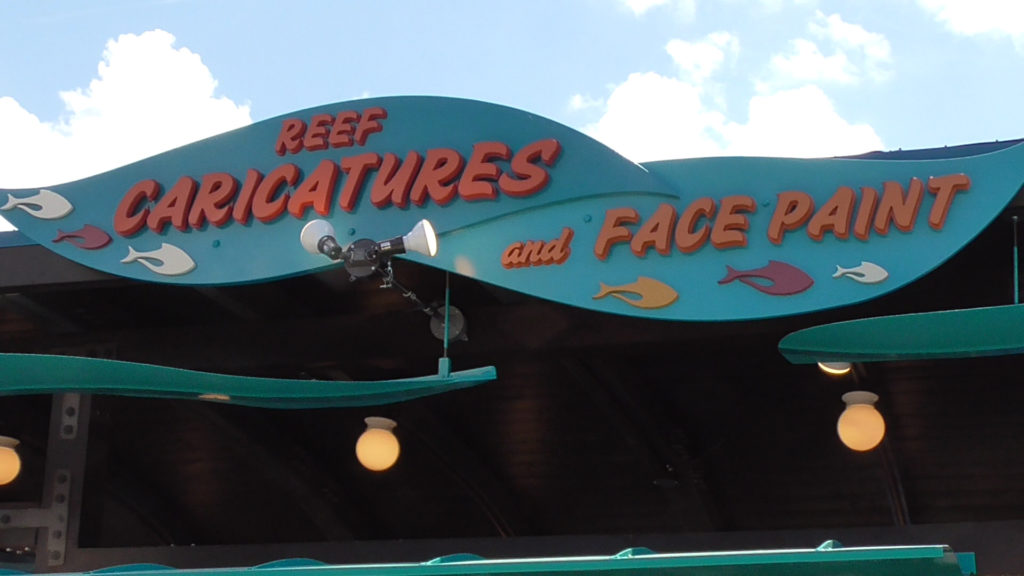Caricatures, face paint, and Henna tattoos area open