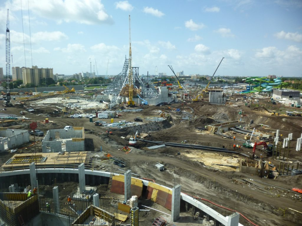 View of the area with new Cabana Bay tower addition in foreground