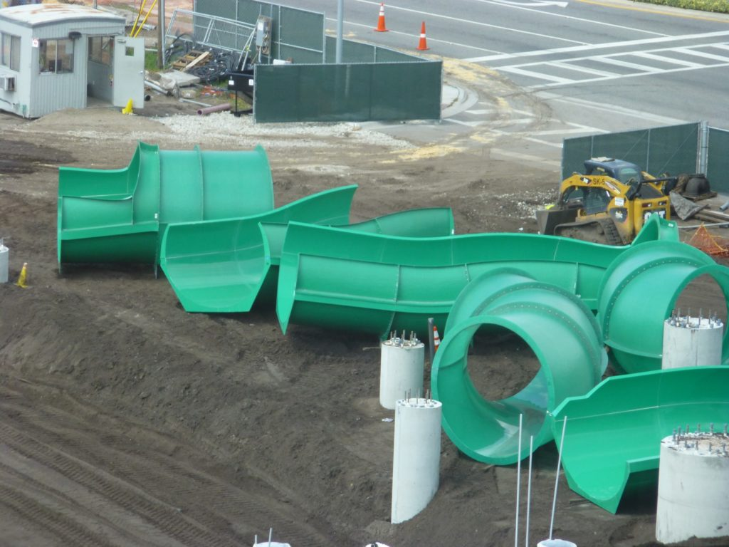 Closer view of these very large slide pieces