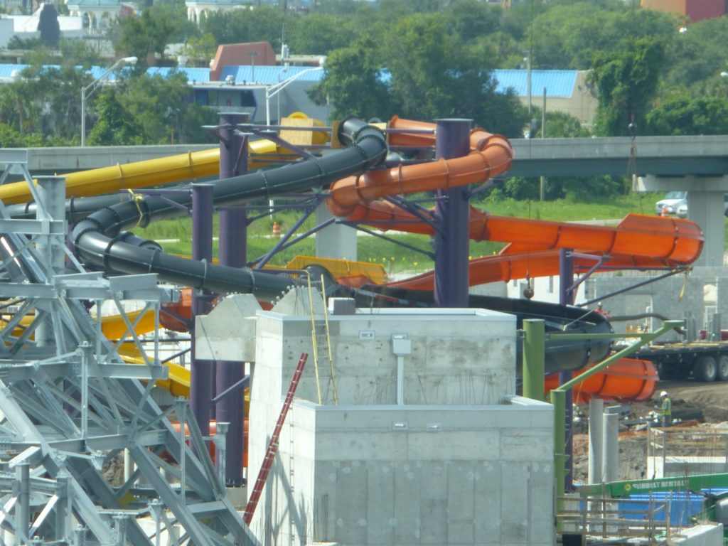 New slides added behind volcano