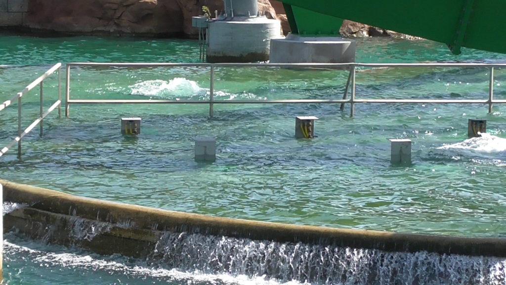 Water splash effects installed