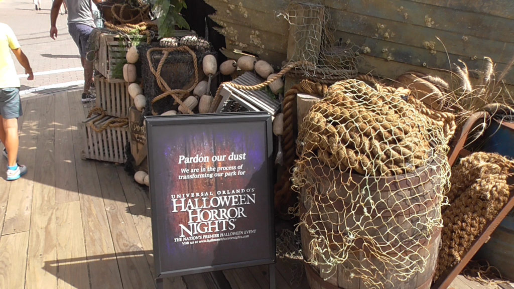 Looks like this scare zone will be ocean themed