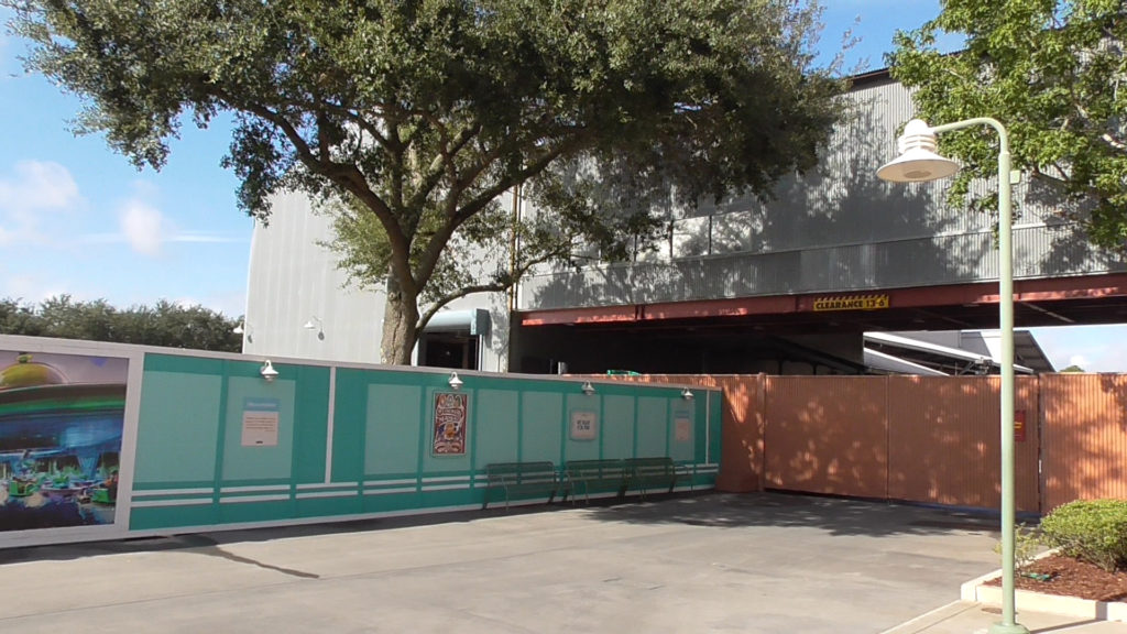 Facade and entrance to Backlot Production Tour now complete gone as well