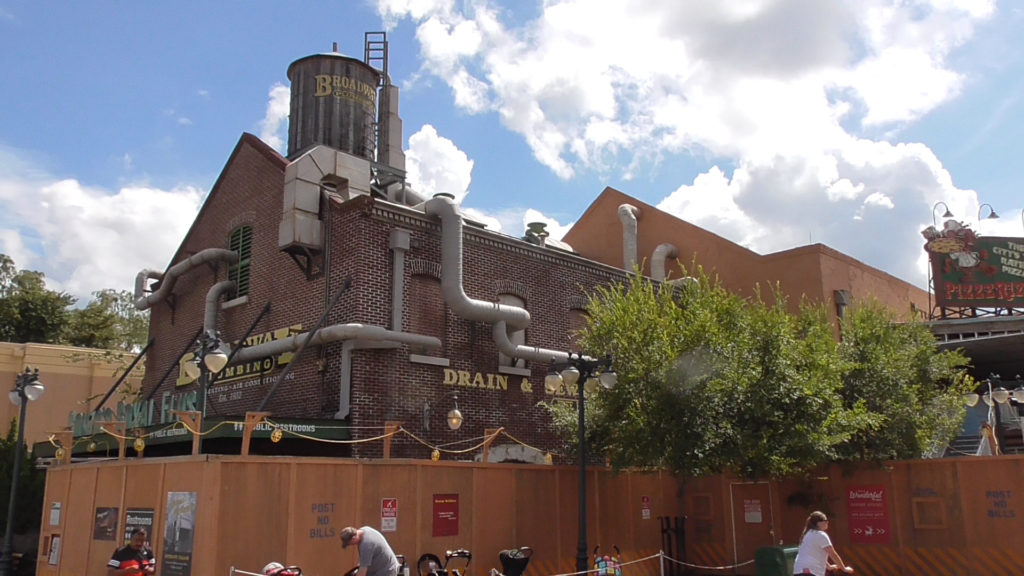 New bathrooms next to PizzeRizzo being themed to Muppets as well