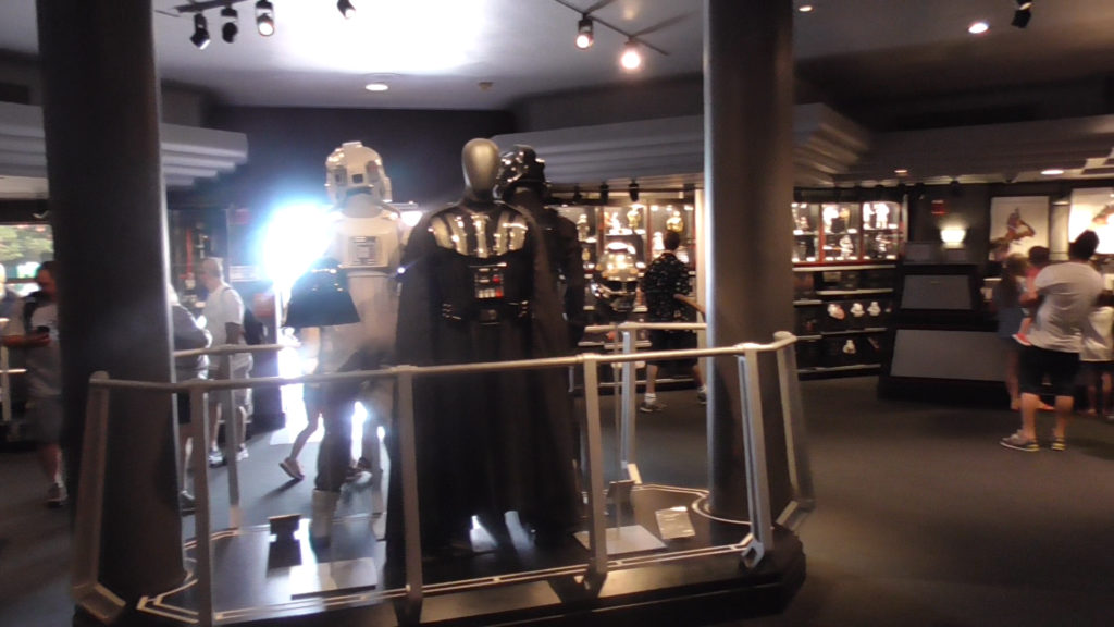 Inside the Star Wars gift shop